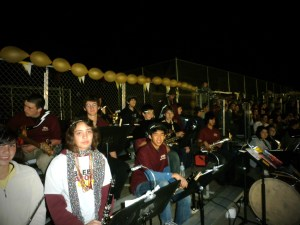 SVHS Pep Band plays for the Falcons at Homecoming!