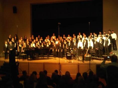 SVHS student Nikki Olivas sings in the Central Coast Honor Choir!