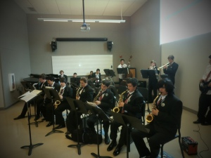 Scotts Valley HIgh School Band at the Santa Cruz Jazz Festival-Cabrillo College