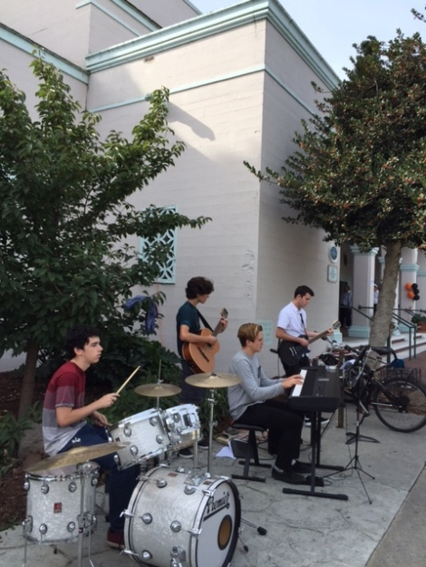 SVHS Band Students Perform for Library Event