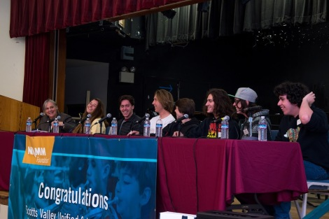Music Production students on the NAMM Panel.JPG
